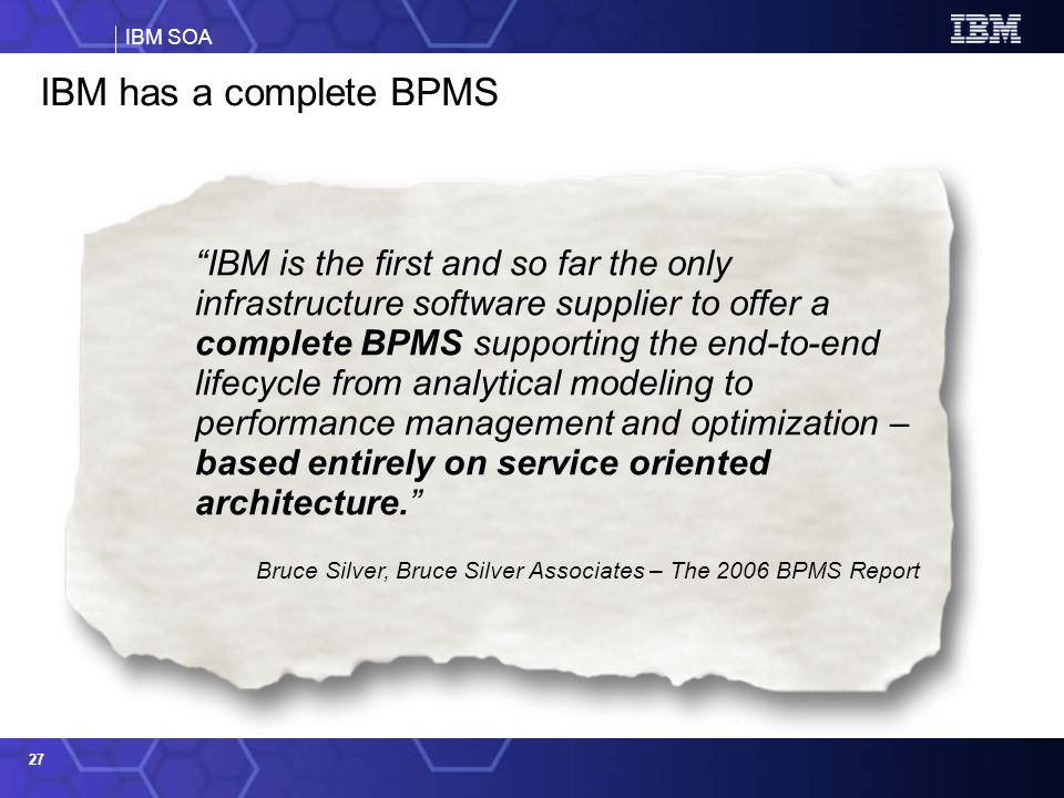 IBM has a complete BPMS