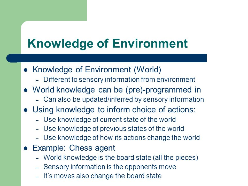 Knowledge of Environment