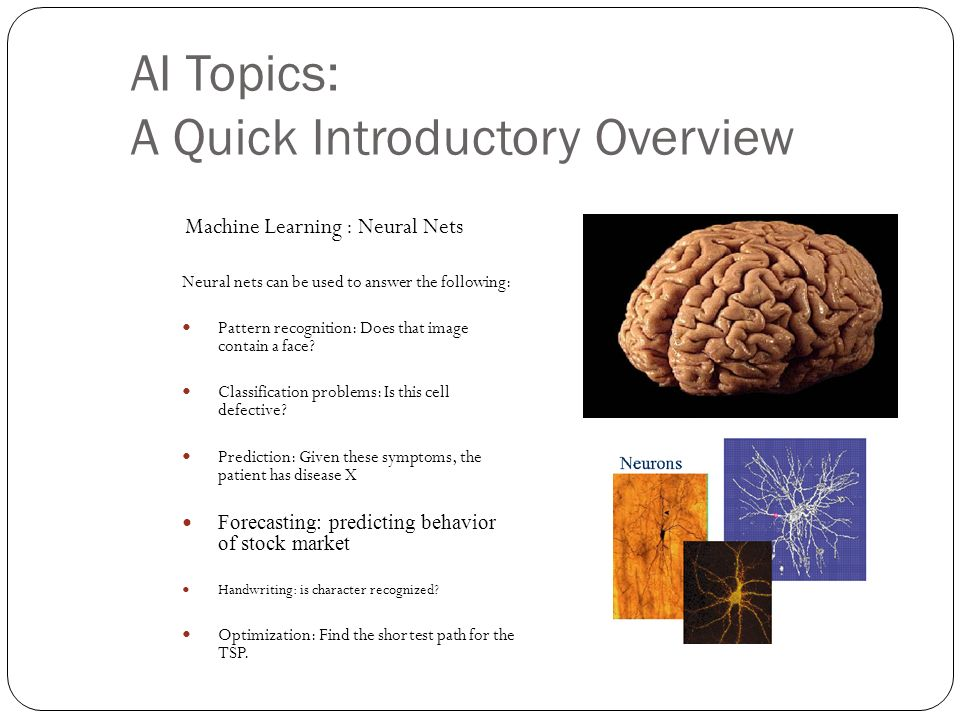 AI Topics: A Quick Introductory Overview