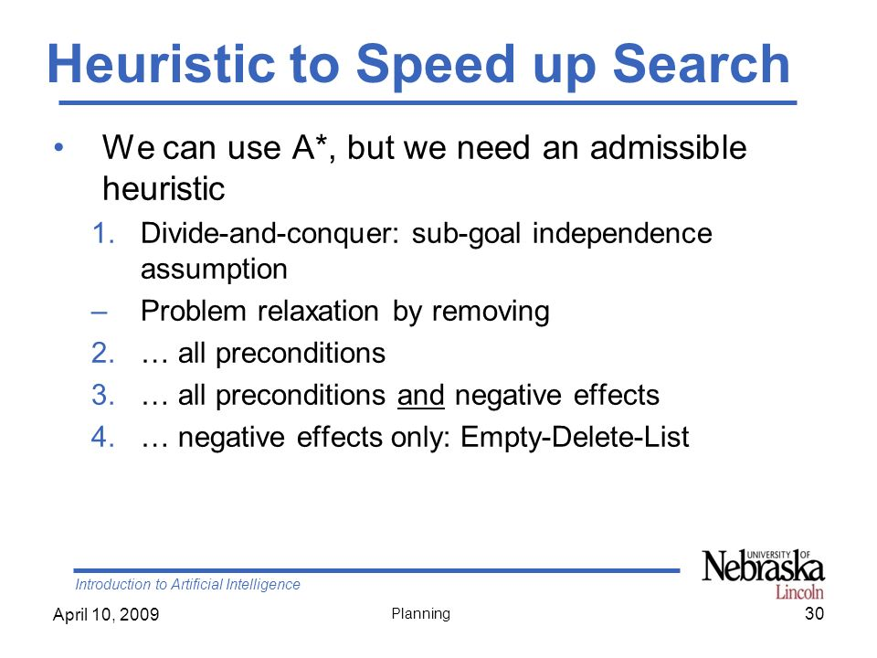 Heuristic to Speed up Search