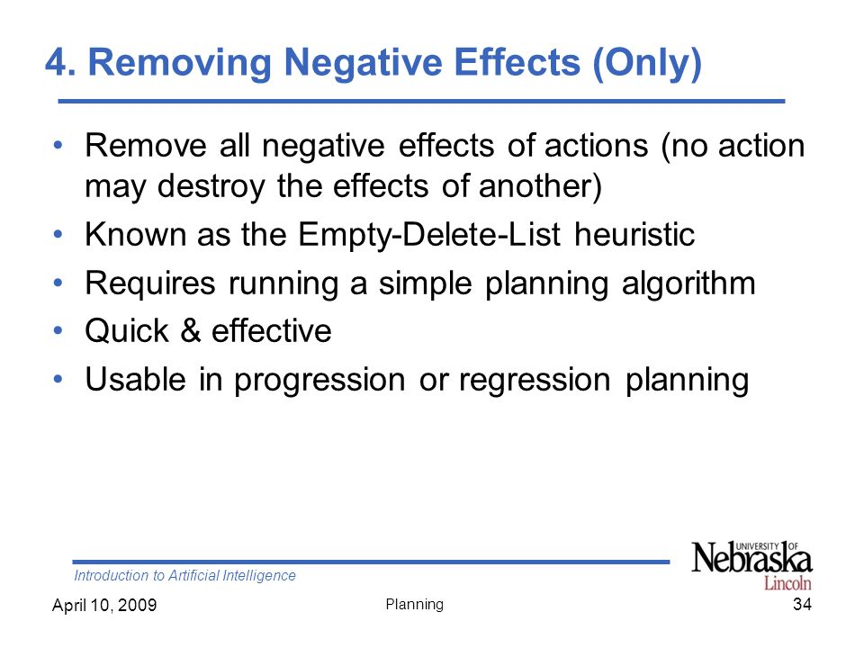 4. Removing Negative Effects (Only)