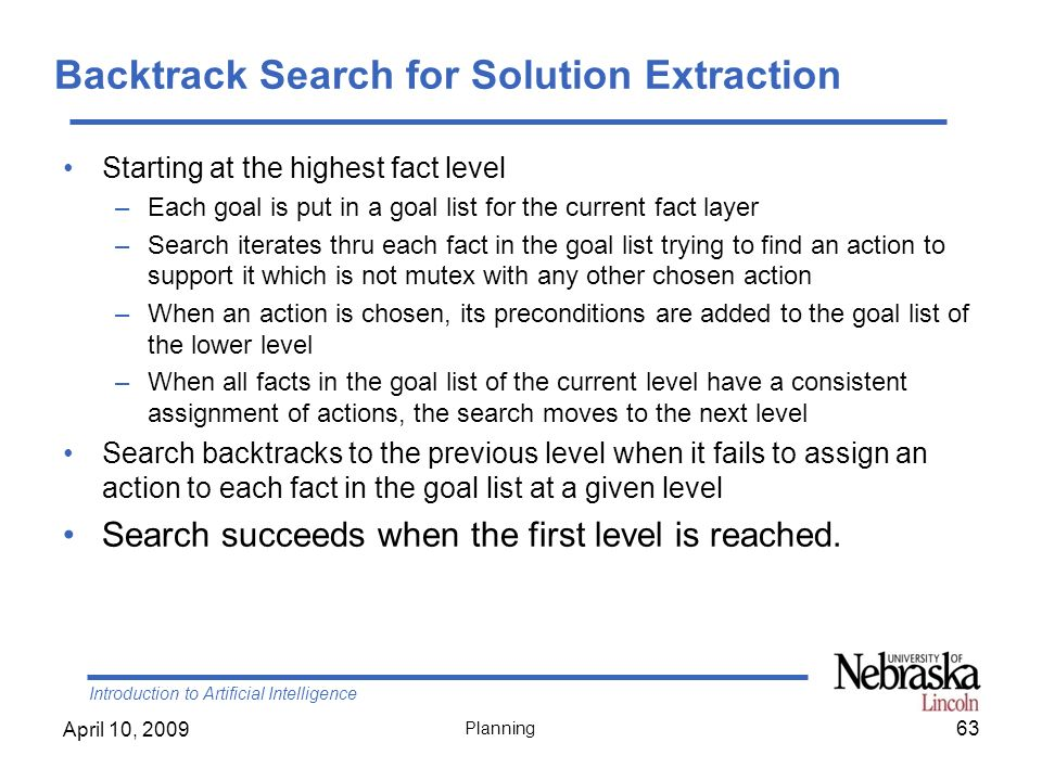Backtrack Search for Solution Extraction