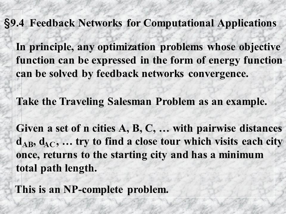 §9.4 Feedback Networks for Computational Applications