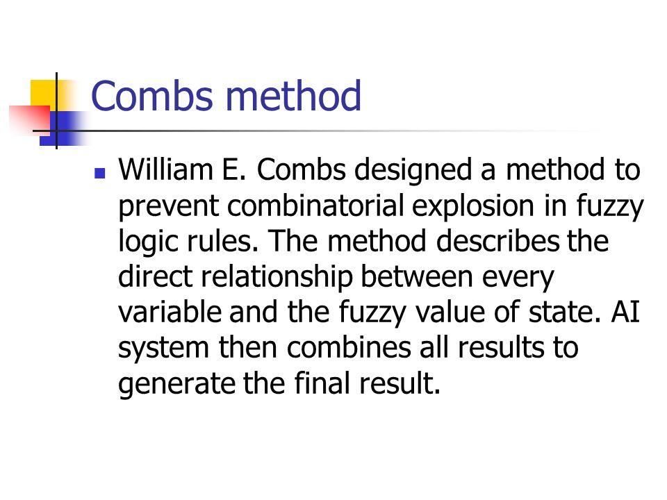 Combs method
