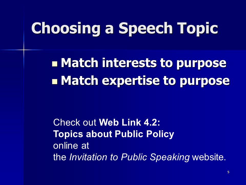 public speech topics