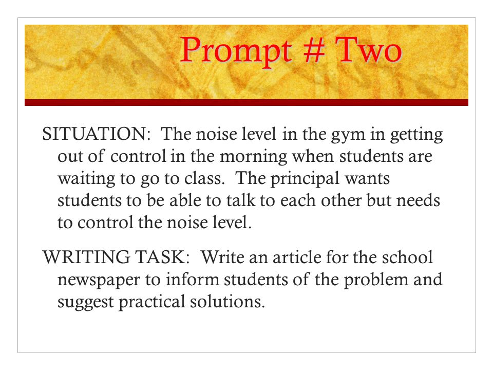 Prompt # Two