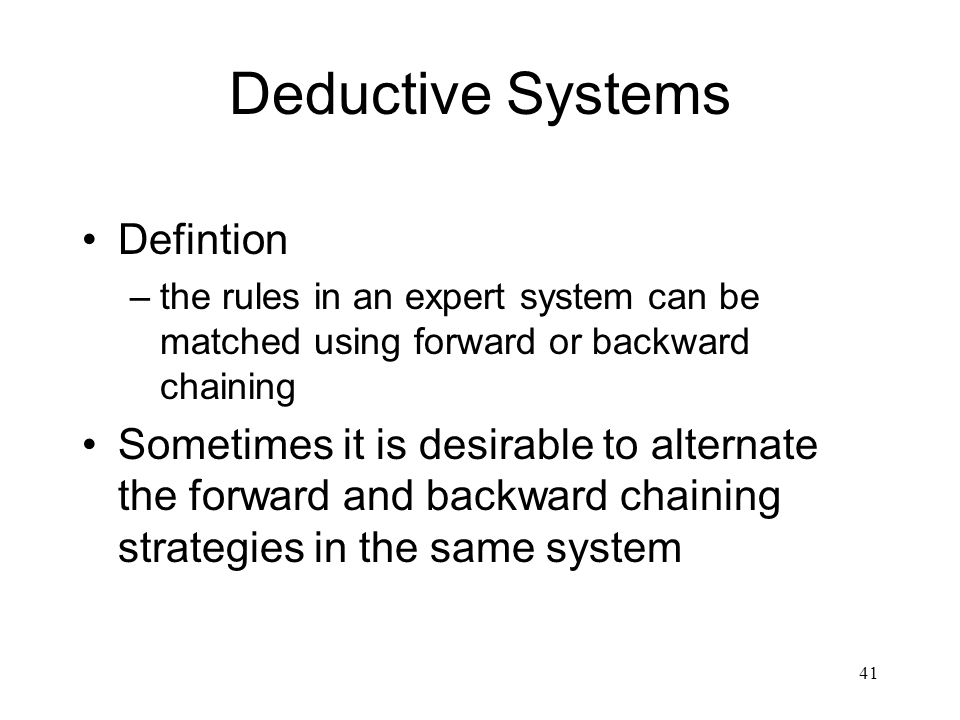 Deductive Systems Defintion