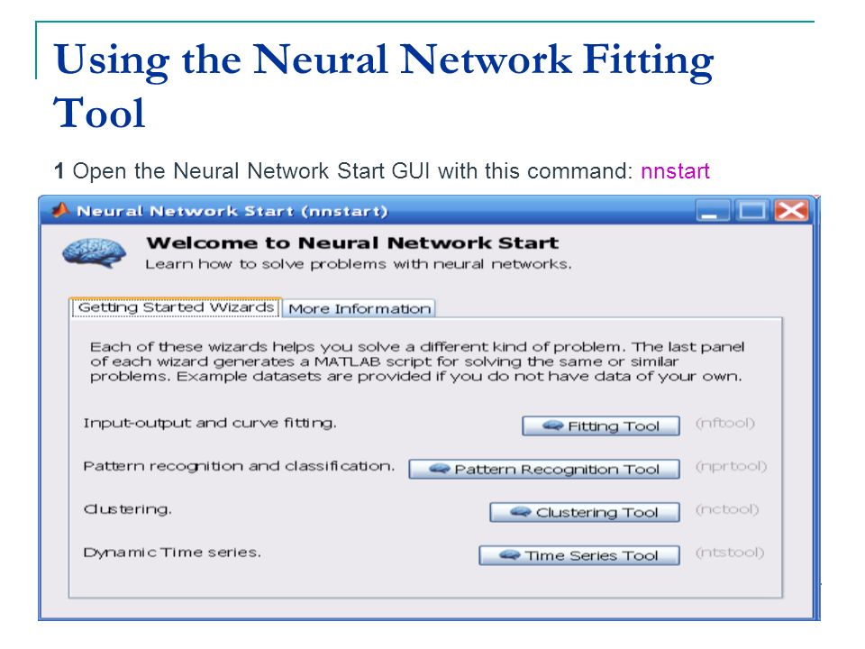 Using the Neural Network Fitting Tool