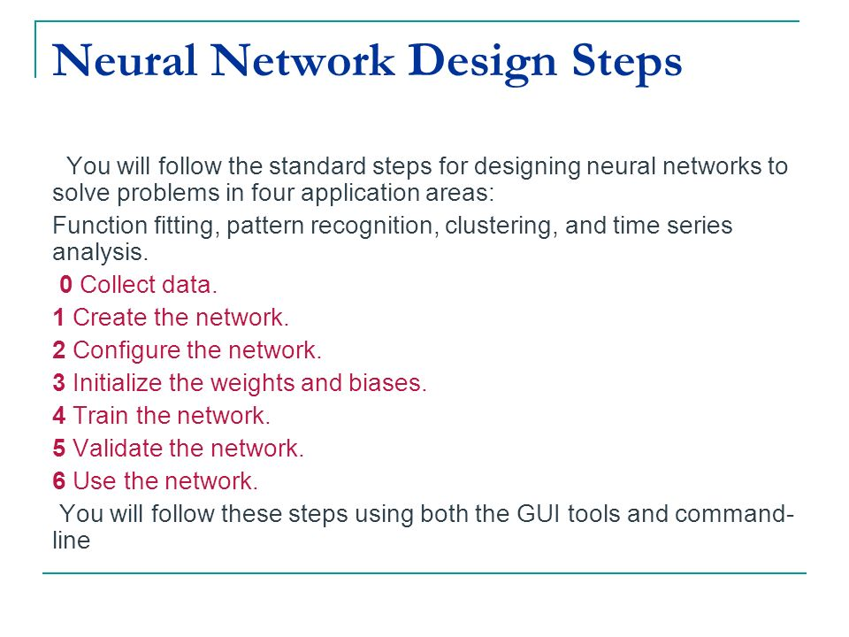 Neural Network Design Steps