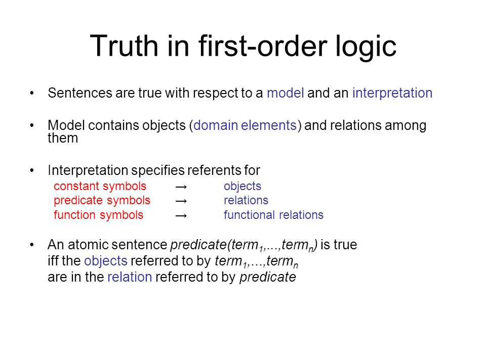 Truth in first-order logic
