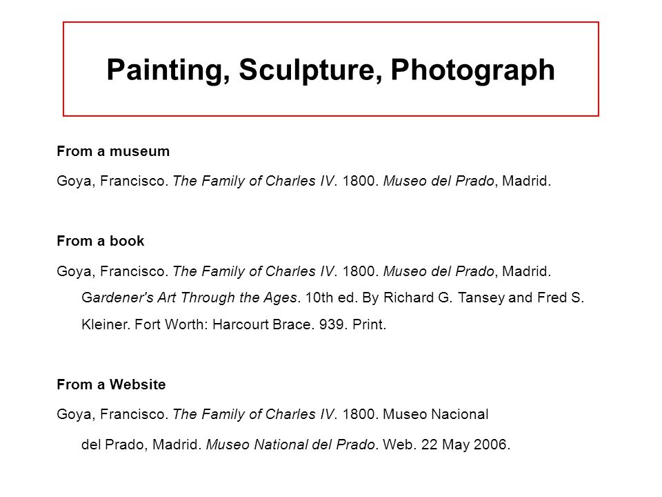 Painting, Sculpture, Photograph