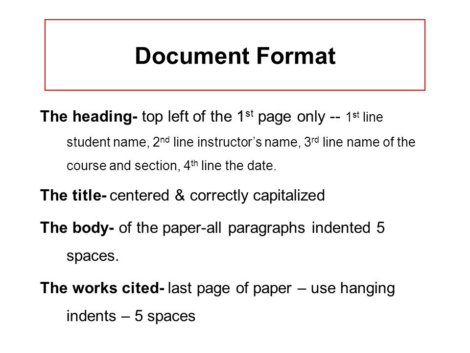 Document Format