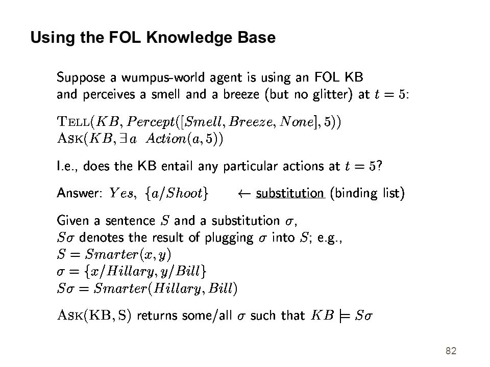 Using the FOL Knowledge Base