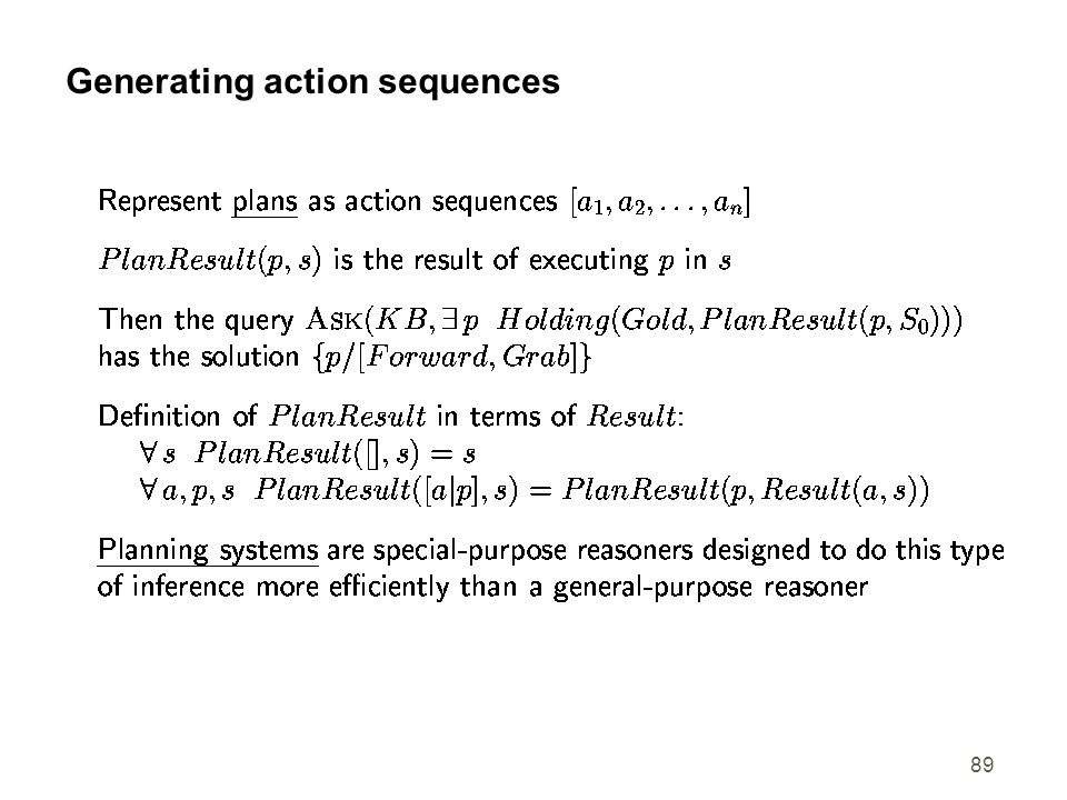 Generating action sequences