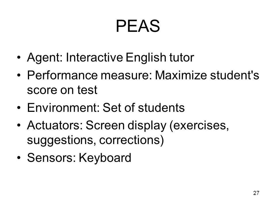 PEAS Agent: Interactive English tutor