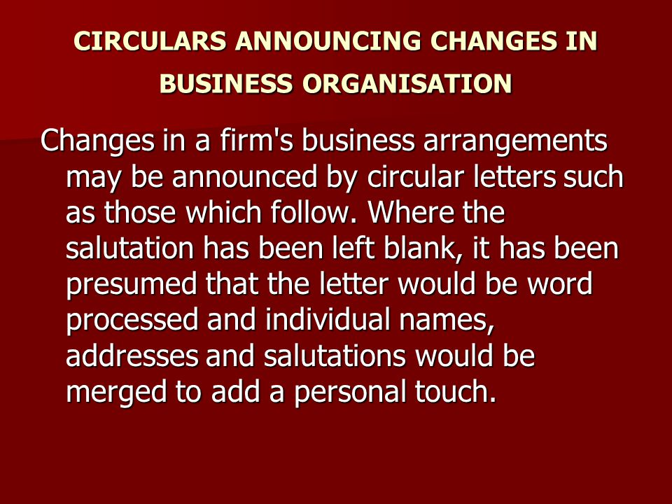 Circular Letters Shirley Taylor Ppt Video Online Download