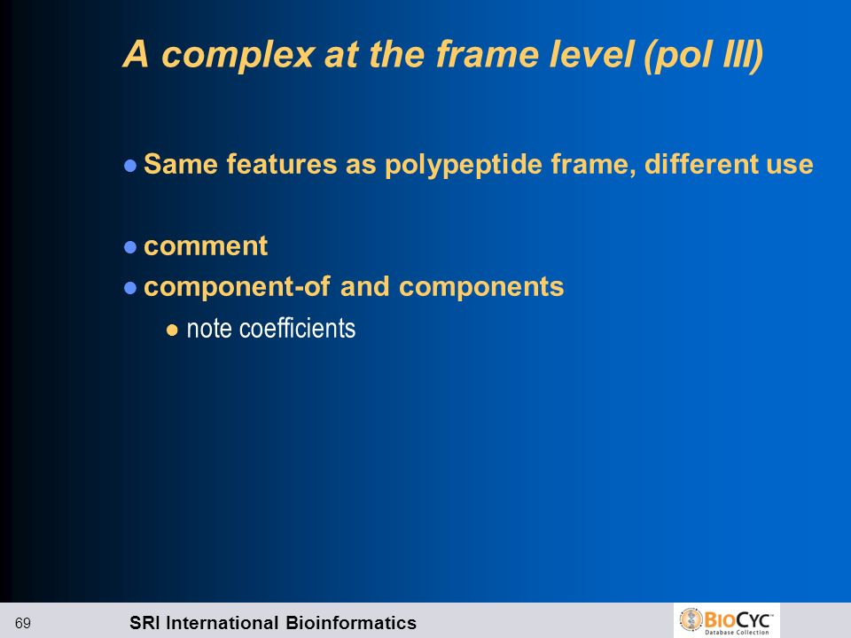 A complex at the frame level (pol III)