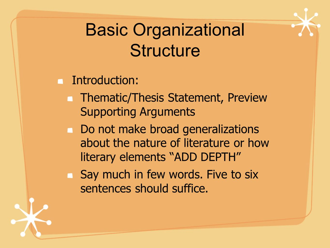 Basic Organizational Structure