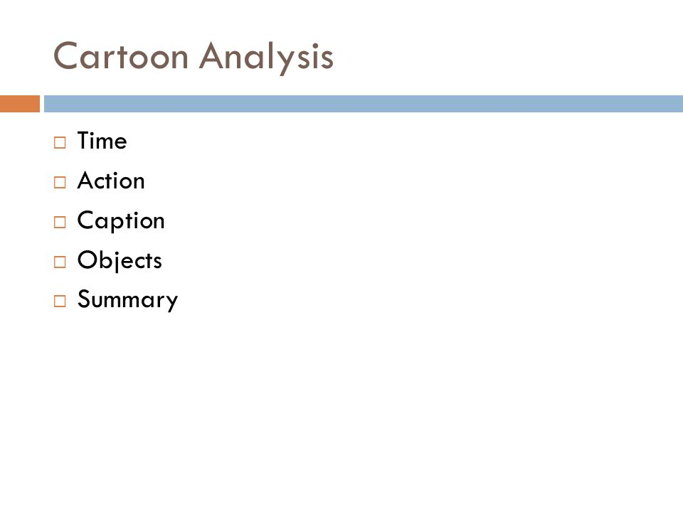 Cartoon Analysis Time Action Caption Objects Summary