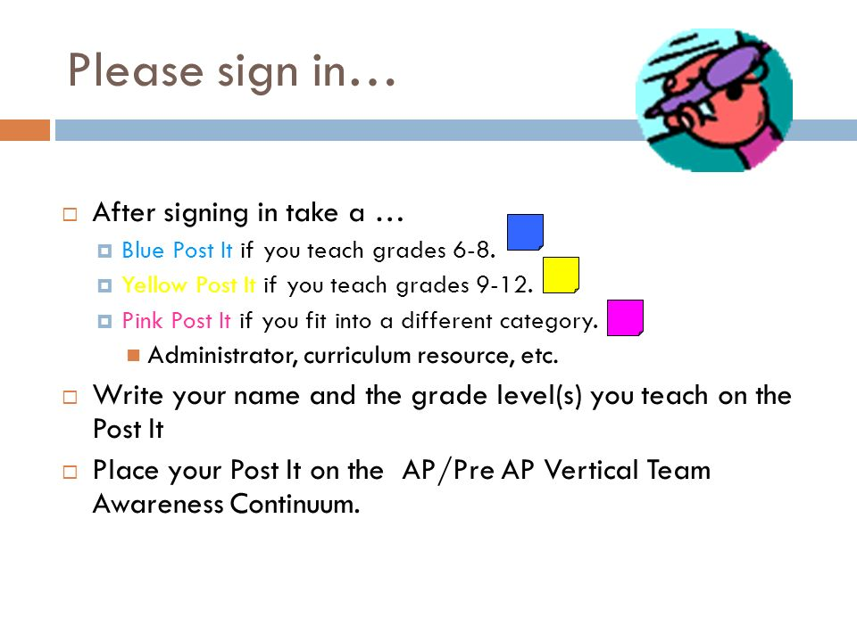 Please sign in… After signing in take a …