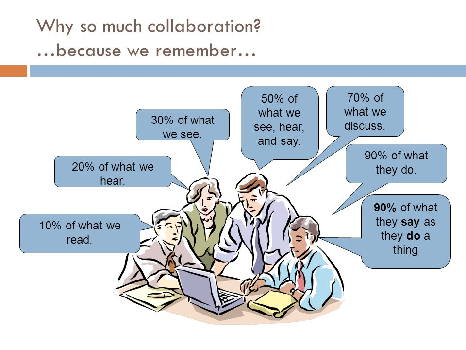 Why so much collaboration …because we remember…
