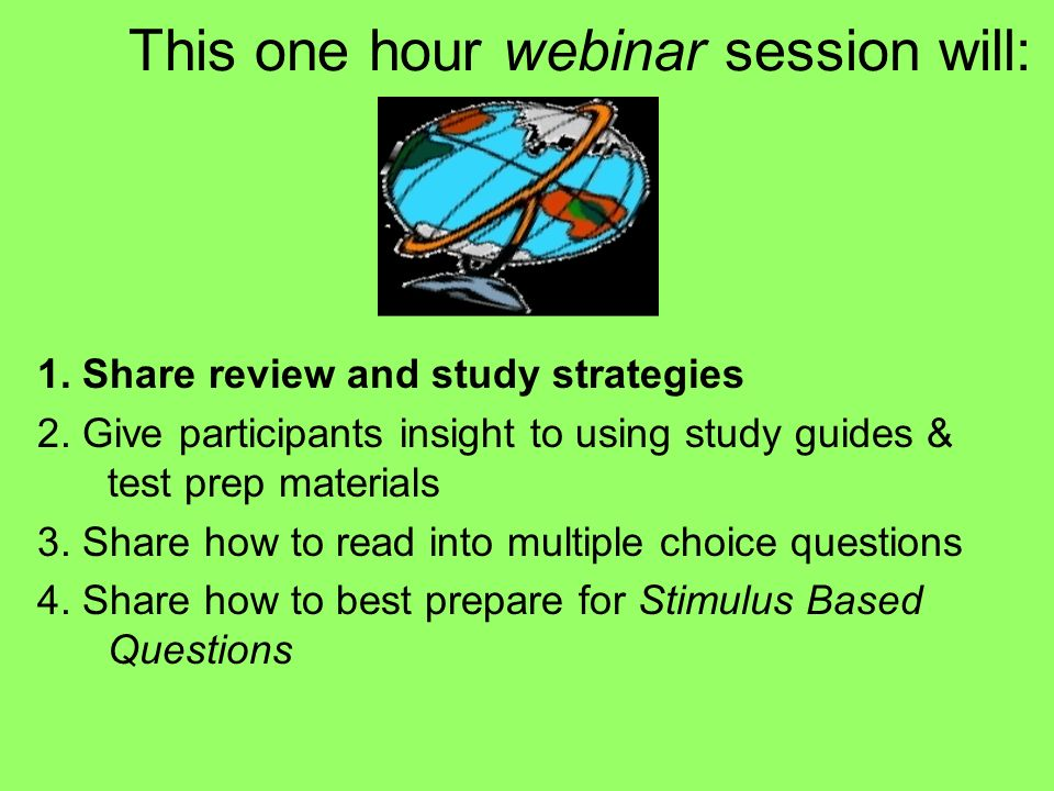 This one hour webinar session will: