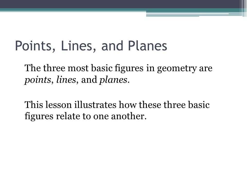 Unit 1 Points, Lines, Planes, and Angles - ppt video online