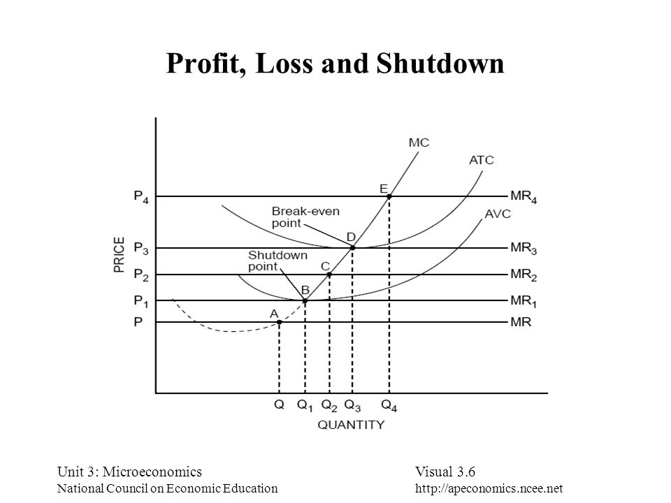 Profit, Loss and Shutdown