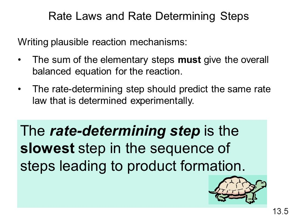 Rate Laws and Rate Determining Steps