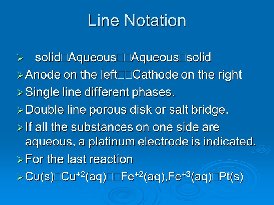Line Notation solid½Aqueous½½Aqueous½solid