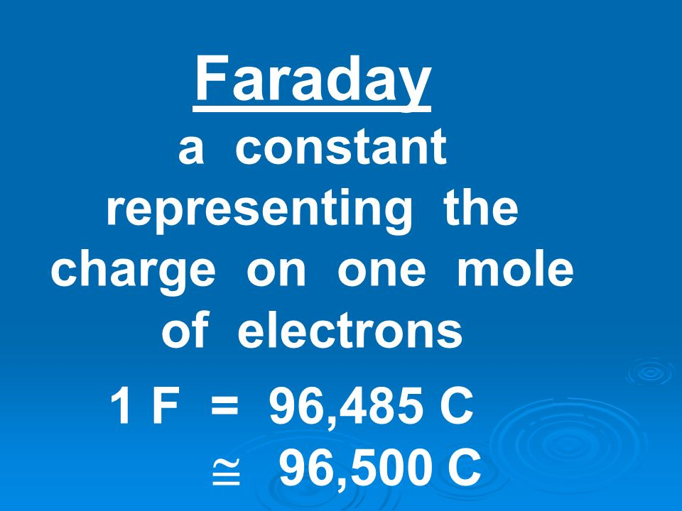 a constant representing the charge on one mole of electrons