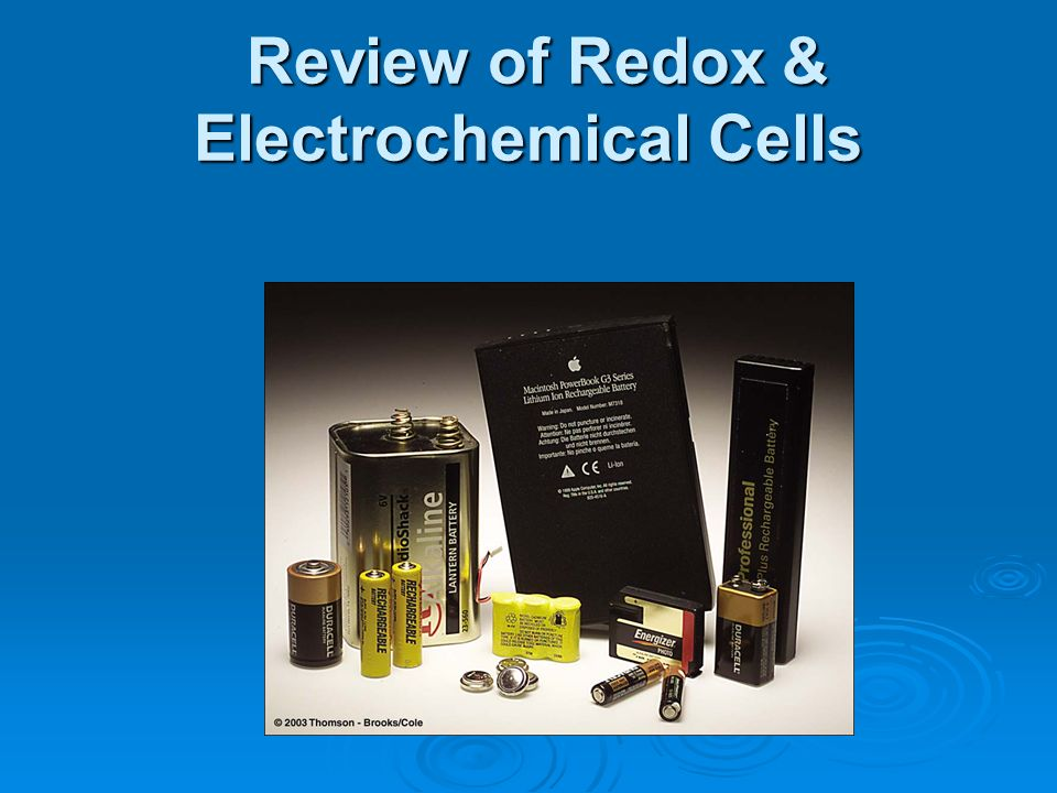 Review of Redox & Electrochemical Cells
