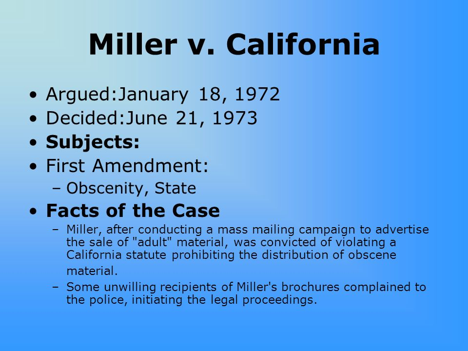 miller vs california summary