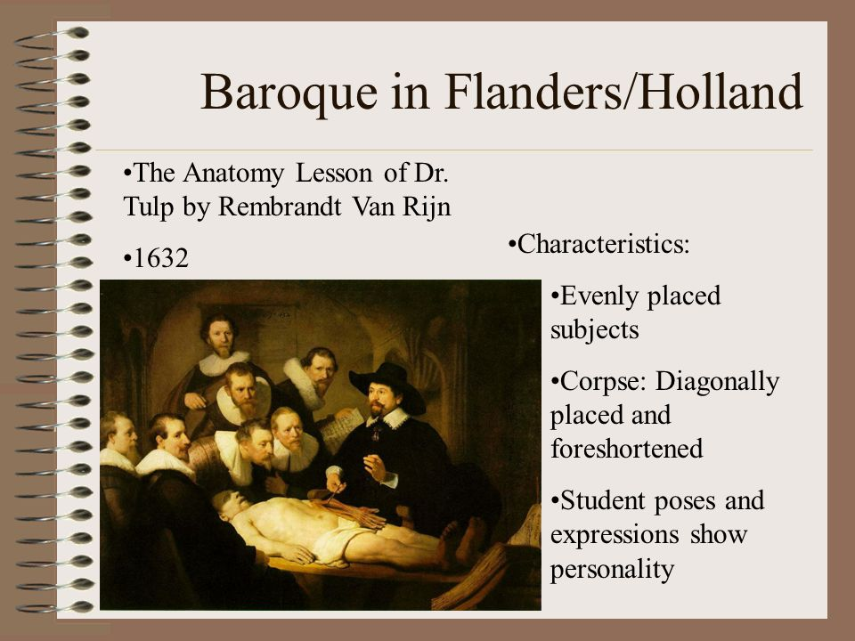 Baroque in Flanders/Holland