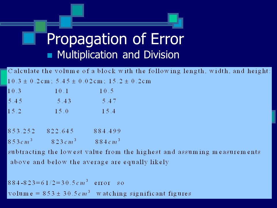 Propagation of Error Multiplication and Division