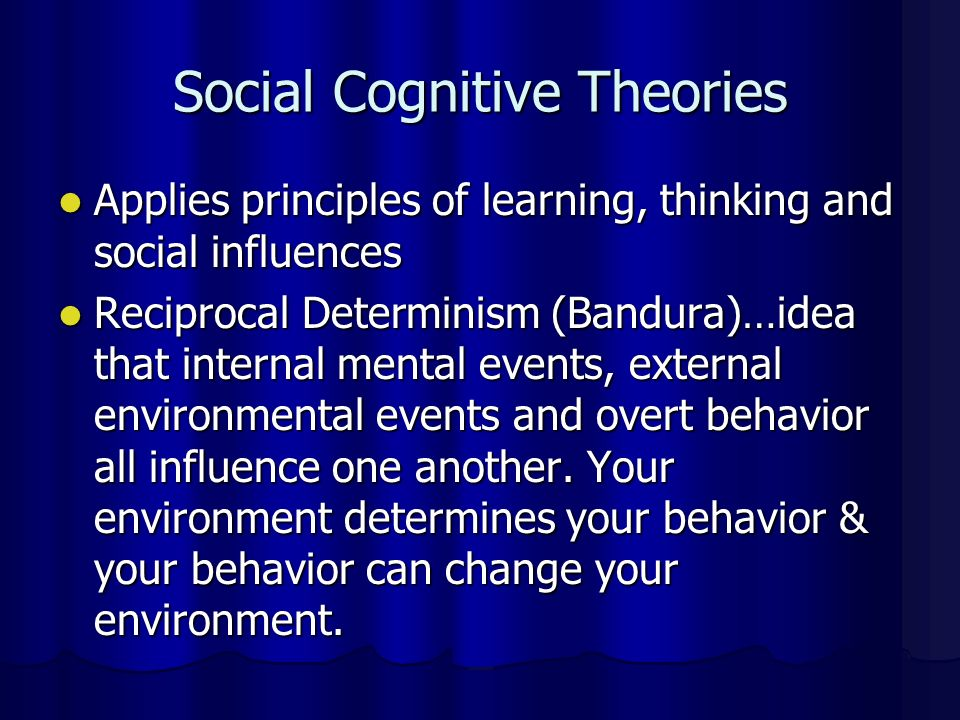 Social Cognitive Theories