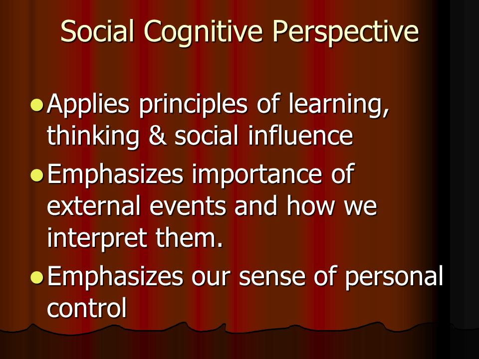 Social Cognitive Perspective