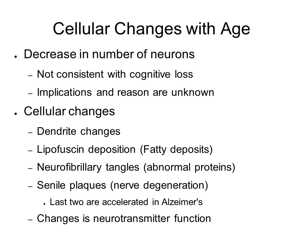 Cellular Changes with Age