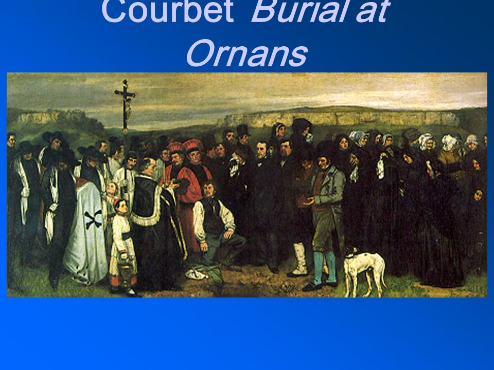 Courbet Burial at Ornans