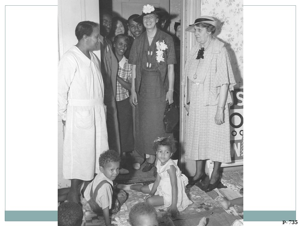 ELEANOR ROOSEVELT VISITS A NURSERY SCHOOL IN DES MOINES OPERATED BY THE WORKS PROGRESS ADMINISTRATION, JUNE 1936 Intensely shy as a young woman, Mrs. Roosevelt played an active, infl uential, and highly visible role during her years as First Lady.