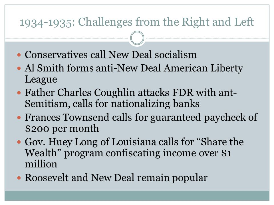 : Challenges from the Right and Left