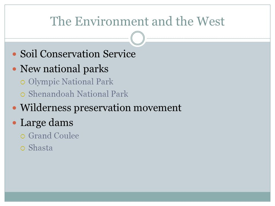 The Environment and the West