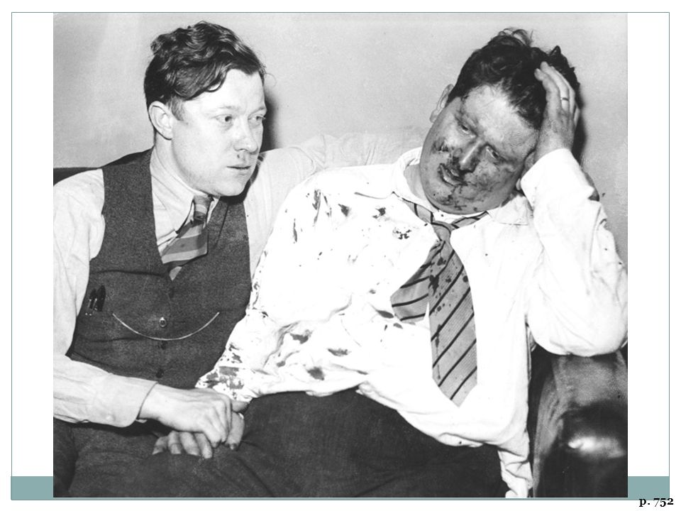 LABOR ORGANIZING, 1930s-STYLE Walter Reuther (left) and Richard Frankensteen of the United Auto Workers, after their beating by Ford Motor Company security guards, Detroit, May 1937.