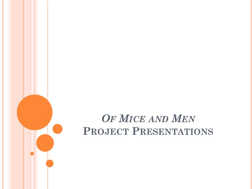 Of Mice and Men Project Presentations
