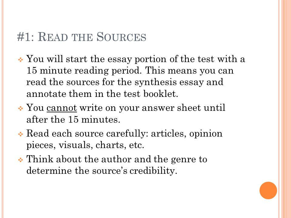 #1: Read the Sources