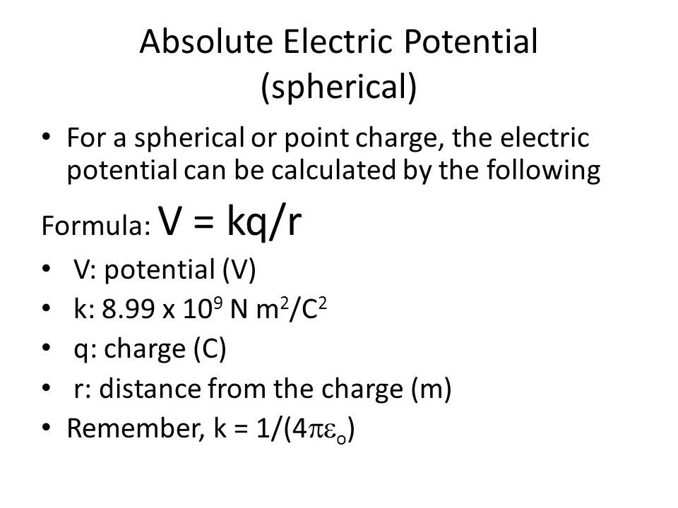 Absolute Electric Potential (spherical)