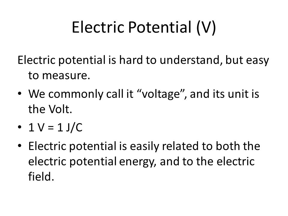 Electric Potential (V)