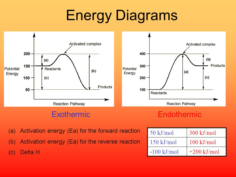Energy Diagrams Exothermic Endothermic