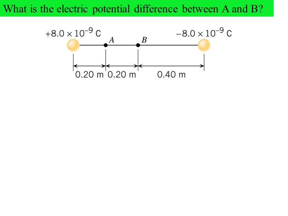 What is the electric potential difference between A and B