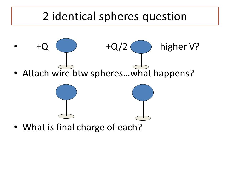 2 identical spheres question